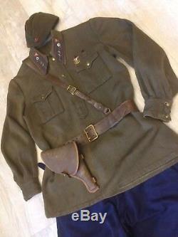 Ww -2 Ensemble Soviétique Russe Uniforme Veste Tunique + Culottes + Chapeau + Ceinture Style 1935-1943