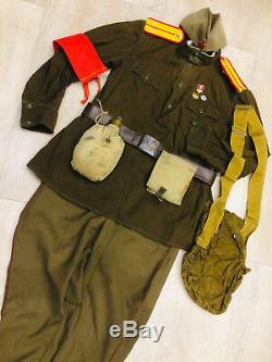 Ww -2 Ensemble Soviétique Russe Uniforme Veste Tunique + Culottes + Chapeau + Ceinture Style 1943