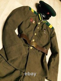 Ww -2 Soviétique Veste Tunique Uniforme Russe+breeches+cap. Garde-frontière Kgb Nkvd