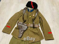 Ww 2. Uniforme Russe Soviétique. Officier De Cavalerie. Ensemble Uniforme (tunique, Chapeau.)